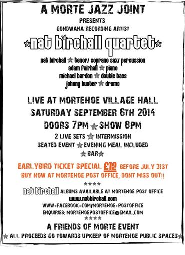 Nat Birchall Quartet Mortehoe